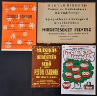 Cca 1977-2005 4 Db Különféle Kisplakát: Hirdetés Felvétel, Koncertek (Muzsikás, Járóka Sándor, Családi Vállalkozás), Kül - Other Collections