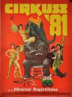 1981 Cirkusz '81, 10 éves Az új Fővárosi Nagycirkusz, Műsorplakát, Magyar Hirdető, Sylvester J. Nyomda, 67×48 Cm - Other Collections