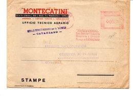 1959 Affrancatura Meccanica Rossa EMA Freistempel Catanzaro MONTECATINI Soc. Gen. Per Industria Mineraria E Chimica - Affrancature Meccaniche Rosse (EMA)