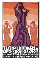 CARTOLINA POSTALE  CARTE POSTALE  TEATRO LICINIUM  RIEVOCAZIONI CLASSICHE 1929  Illustratore ZIMELLI - Pubblicitari