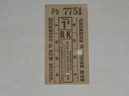 Ancien Ticket Omnibus, Autobus, Tramway, Ticket Metro. - Tranvías