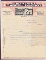 Facture Lettre Illustrée 1934 M DUCROT Meubles Bois Précieux AUTUN Saône Et Loire Renseignements Sur Bonne Réponse Verso - France