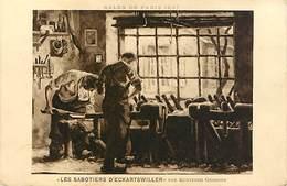 67  Salon De Paris 1927 : Sabotiers D'Eckartswiller Par Kuntzner Georges - France