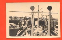 Panama Canale Nave Chaîne Panama Channel Canal De Panamá 1955 Boats Navires Bateaux Trains - Barche