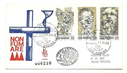 1980 - San Marino 1050/52 Lotta Al Tabagismo - FDC - Medicina