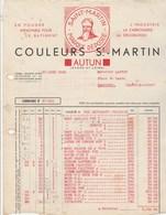 Facture Illustrée 17/6/1938 Couleurs ST MARTIN Industrie Carrosserie AUTUN Saône Et Loire  à Laffay Marcigny - France