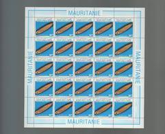 MAURITANIE 1983 / MEULES PREHISTORIQUES  / SERIE COMPLETE DE 3 FEUILLES DENTELEES / Y&T 532-534 - Mauritanie (1960-...)