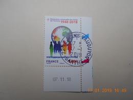 FRANCE 2018 Déclaration Des Droits De L'Homme 1948-2018 Beau Cachet Rond Sur TN  Daté - France