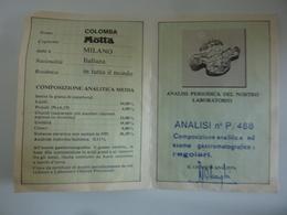 """Pieghevole Pubblicitario """"MOTTA S.P.A. CARTA D' IDENTITA' DELLA COLOMBA MOTTA"""" - Publicités"""
