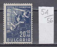 56K54 / 676 Bulgaria 1947 Michel Nr. 613 - Telefonistinnen THELEPHONE OPERATORS , Postbeamte   ** MNH - Post