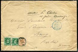 BELGIQUE - N° 28 + 30 (2) / LETTRE D'ANVERS LE 11/6/1881 POUR BOURG - TB - 1869-1883 Léopold II