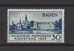 ALLEMAGNE BADE.  YT   N° 46  Neuf *  1949 - Zone Française