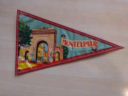 Fanion Touristique France MONTELIMAR (vintage Années 60) - (Vaantje - Wimpel - Pennant - Banderin) - Obj. 'Remember Of'