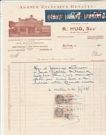Facture Illustrée 16/1/1934 HUG Royal Garage Agence Renault Stock Michelin AUTUN Saône Et Loire - France