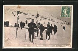 CPA Monestir-le-Clermont, Concours De Skis - France