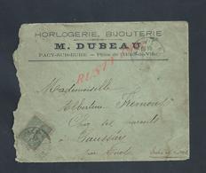 LETTRE COMMERCIALE SUR TIMBRE M DUBEAU HORLOGERIE BIJOUTERIE À PACYSUR EURE : - France