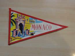 Fanion Touristique MONACO MONTE CARLO (vintage Années 60) - (Vaantje - Wimpel - Pennant - Banderin) - Obj. 'Souvenir De'