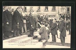 CPA Montpellier, Le Président De La République à Montpellier 1921, Orphelins Remettant Une Adresse Au Président - Montpellier