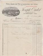 Facture Illustrée 23/4/1920 Joseph OUDOT Vins Eaux De Vie Liqueurs AUTUN Saône Et Loire - France