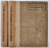 Szabó Dezső: Az Elsodort Falu. Regény Két Kötetben. Kritikai Kiadás. 1-2. Köt. Bp., 1944, Faust Imre. 314+309 P. Kiadói  - Books, Magazines, Comics