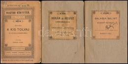 3 Db A Magyar Könyvtár Sorozatból:  Balassa Bálint Válogatott Költeményei. Életrajzzal Bevezette és Jegyzetekkel Kísérte - Books, Magazines, Comics