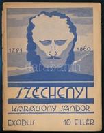 Karácsony Sándor: Széchényi. Bp., 1941, Exodus. II. Kiadás. Kiadói Tűzött Papírkötés. - Books, Magazines, Comics