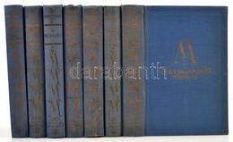 Mereskovszkij Munkái Sorozat 7 Kötete.(6 Mű 7 Kötetben.) Bp.,é.n.,Dante. Kiadói Aranyozott Egészvászon-kötés, Kopottas B - Books, Magazines, Comics