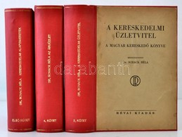 A Magyar Kereskedő Könyve I-II, IV. Kötet. (A III. Kötet Hiányzik.) Szerk: Dr. Schack Béla. A Kereskedelmi Tudnivalók En - Books, Magazines, Comics