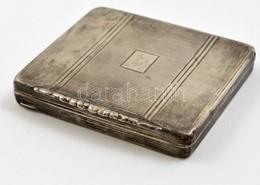 Ezüst(Ag) Monogramos Cigarettatárca, Jelzett, 7,5×8,5×1,2 Cm, Nettó: 81,2 G - Jewels & Clocks