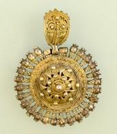 Aranyozott Ezüst (Ag.) Medál, Jelzés Nélkül, D: 4,5 Cm, Nettó 18,5 G - Jewels & Clocks