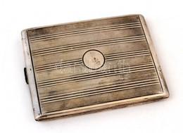 Ezüst (Ag.) Art Deco Cigarettatárca, Jelzett, Mesterjeggyel (BM), Nettó: 153 G, 11×8 Cm - Jewels & Clocks