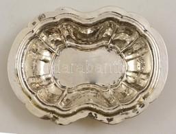Ezüst(Ag) Ovális, Bordázott Tálka, Jelzett, 15×11 Cm, Nettó: 116,4 G - Jewels & Clocks