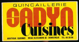AUTOCOLLANT, STICKERS : Quincaillerie SADYN Cuisines, Dunkerque (Nord) - Stickers