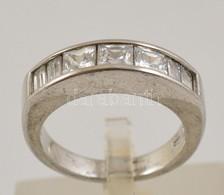 Ezüst(Ag) Gyűrű Cirkónia Díszítéssel, Jelzett, Méret: 53, Bruttó: 4,9 G - Jewels & Clocks