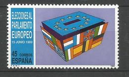 Spanien 1989 Mi.Nr. 2894 , EUROPA CEPT Sympathie Mitläufer Dritte Direktwahlen - Postfrisch / MNH / (**) - Europa-CEPT