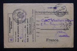 FRANCE - Enveloppe De Prisonnier De Guerre à Darmstadt Pour Grenoble En 1918 - L 21288 - Guerre De 1914-18