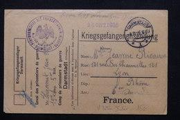 FRANCE - Enveloppe De Prisonnier De Guerre à Darmstadt Pour Lyon En 1916 - L 21289 - Guerre De 1914-18