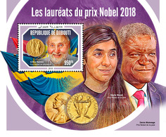 DJIBOUTI 2018 - Nobel Prize In Physics S/S. Official Issue - Physics
