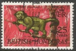 British Honduras. 1968 Wildlife. 25c Used SG 263 - British Honduras (...-1970)