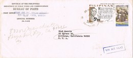31199. Carta Aerea MANILA (Filipinas) 1968 To USA. Bureau De Postes - Filipinas