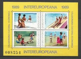 Rumänien  1989  Mi.Nr. Block 255 (4451-4454) , EUROPA CEPT Sympathie Mitläufer - INTEREUROPA - Postfrisch / MNH / (**) - Europa-CEPT