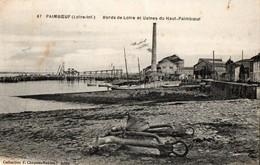 44. CPA. PAIMBOEUF.  Bords De La Loire Et Usines Produits Chimiques Kuthmann (?) Du Haut Paimboeuf. 1939. - Paimboeuf