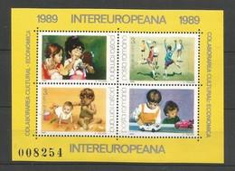 Rumänien  1989  Mi.Nr. Block 254 (4447-4450) , EUROPA CEPT Sympathie Mitläufer - INTEREUROPA - Postfrisch / MNH / (**) - Europa-CEPT