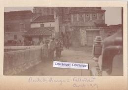 ESPAGNE  Route De BURGOS à VALLADOLID 1907 - Photo Originale - Places