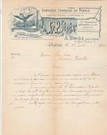 Facture Lettre Illustrée 26/7/1900 BOVET Compagnie Assurances Le Phénix AUTUN Saône Et Loire - Banque & Assurance