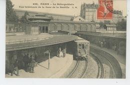 PARIS - LE METROPOLITAIN - Vue Intérieure De La Gare De La Bastille - Métro Parisien, Gares