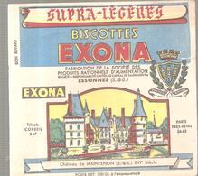 Buvard EXONA Biscottes EXONA Château De MAINTENON (Eure Et Loir) - Biscottes