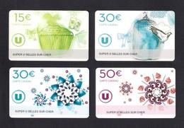 4  Carte Cadeau  SUPER U  SELLES SUR CHER (41).    Gift Card. Geschenkkarte - Cartes Cadeaux