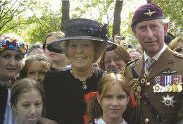 DP00608 - NETHERLANDS - DUTCH ROYALTY - QUEEN BEATRIX PRINCE CHARLES - CP ORIGINAL ROYAL PRESS 184 - Familles Royales