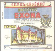 Buvard EXONA Biscottes EXONA Château De JOSSELIN (Morbihan) - Biscottes